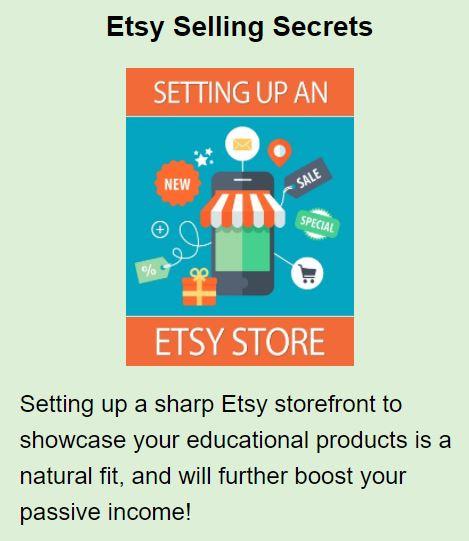 Amy Bonus Etsy setup