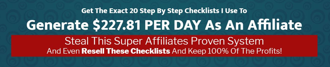 IM Checklist 4 Affiliate Marketing Review Kevin Fahey