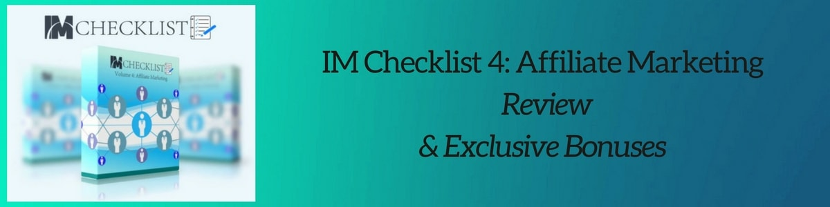 IM Checklist 4 Affiliate Marketing Review header